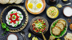 Table of Middle Eastern food / Shutterstock