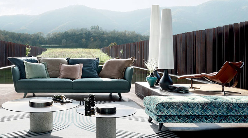 outdoor furniture mountaineous background